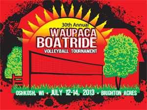 2013 Waupaca Boatride Volleyball Tournament T-Shirt