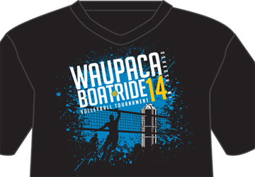 2014 Waupaca Boatride Volleyball Tournament T-Shirt