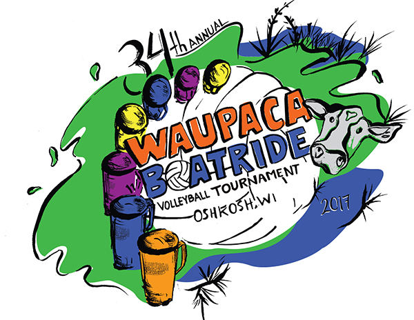 2017 Waupaca Boatride Volleyball Tournament T-Shirt