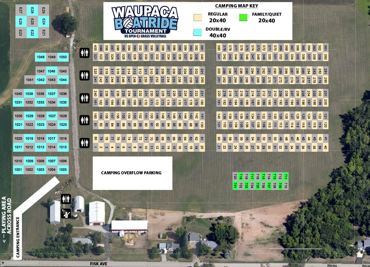 Waupaca Boatride - Campground Map