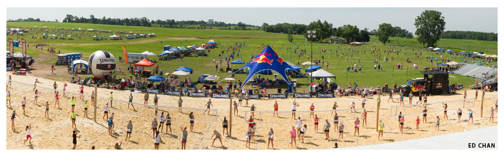 Waupaca Boatride Volleyball Tournament - Panoramic View 2013