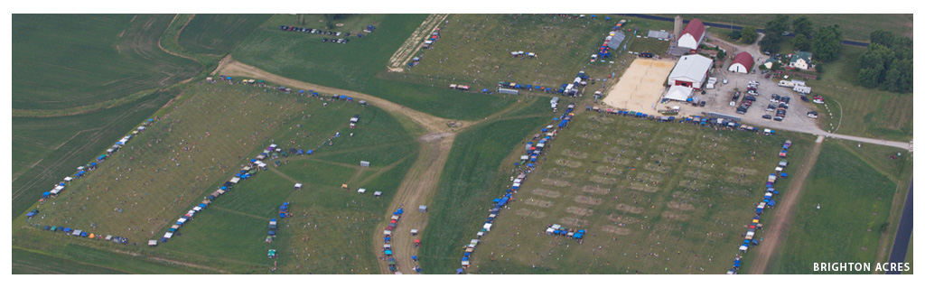 Waupaca Boatride Volleyball Tournament - Aerial View 2015