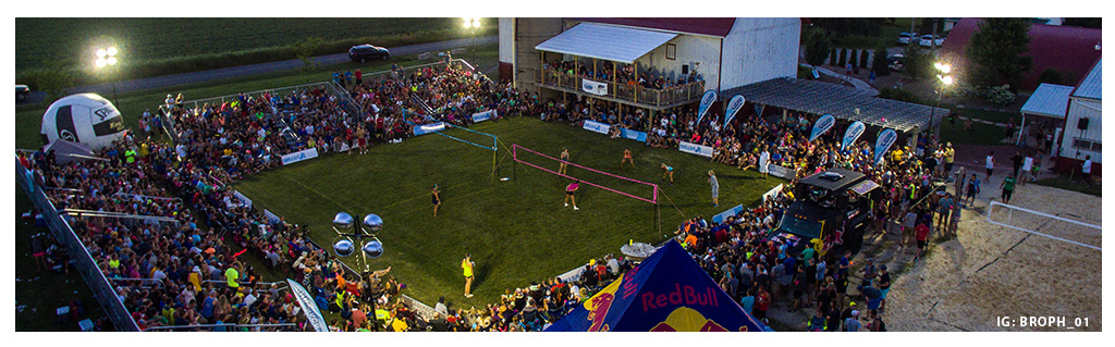Waupaca Boatride Volleyball Tournament - Finals Courts Aerial View 2016