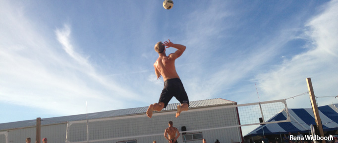 Waupaca Boatride Volleyball Tournament - Bomgren Jump Serve 2013