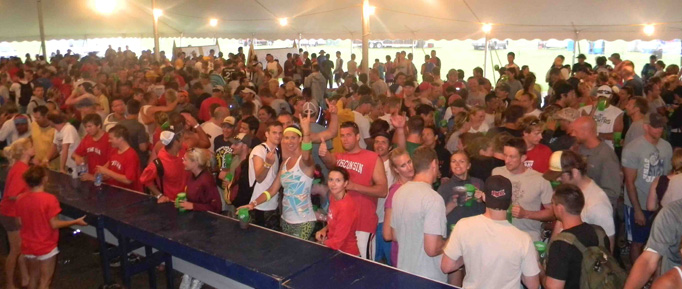 Waupaca Boatride Volleyball Tournament - Tent Rain Delay 2010